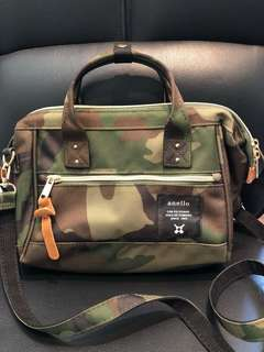 Authentic Anello camo crossbody bag