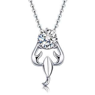 Zodiac Scorpio GENUINE 925 Silver Necklace (necklace + anti tarnish silver cloth + box/pouch)