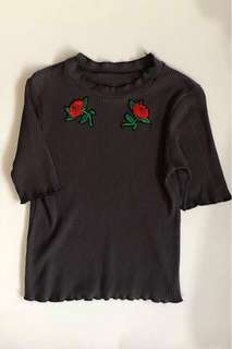 Rose Patched Shirt