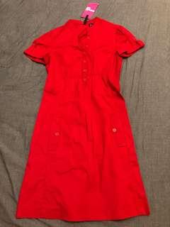全新 Mango s 號 紅色洋裝