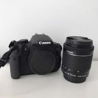 Canon EOS 700d and 18-55mm lens