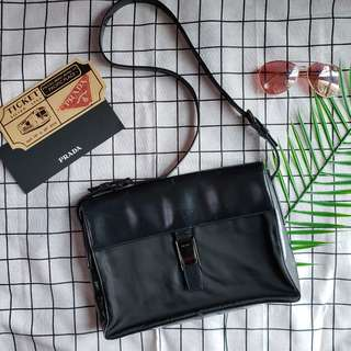 真皮尼龍 Prada vintage tote bag chain bag shoulder bag單肩袋兩用袋 斜咩袋