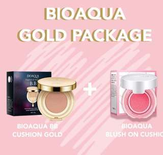 Bioaqua bb cushion + blushon