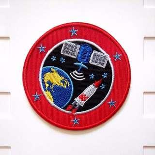 Earth Rocket Satellite Orbit Space Iron On Patch