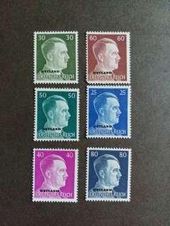 二戰纳税德國 全新1941年佔領東方波羅的诲三國希特勒郵票
