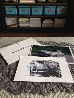 Porsche Cayenne手繪卡