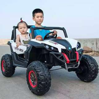 2 Seater White Camouflage UTV-MX Rechargeable Ride On Truck ATV