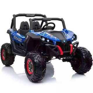 2 Seater Blue Camouflage UTV-MX Rechargeable Ride On ATV Truck