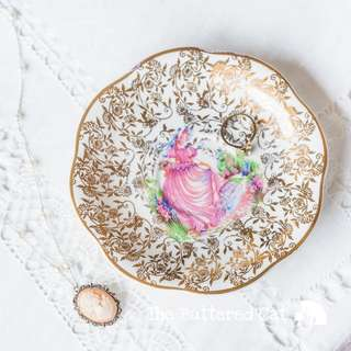 Lovely vintage ' Pinkie ' ring dish, trinket dish, small dish, jewelry holder