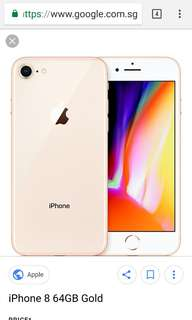IPhone 8 64 GB gold new! Price Negotiable.