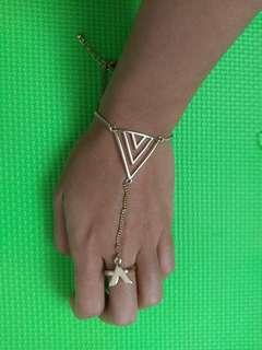 Forever 21 F21 Ring-Bracelet