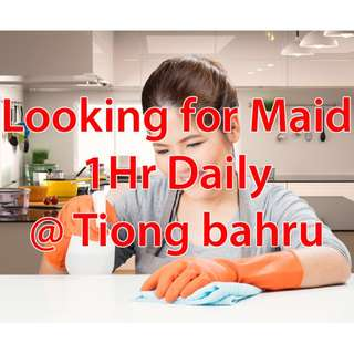 Looking for part time maid @ tiong bahru. 1hr daily.