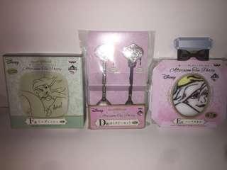 Disney Princess 迪士尼公主 一番賞 D賞+E賞+F賞 小魚仙 Ariel 餐具SET 毛巾 碟