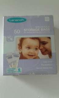 lasinoh breastmilk storage bags (50pcs in box)
