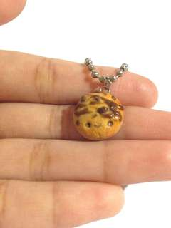 Polymer clay chocolate chips cookie charm