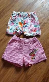 Dora Nickelodeon girl Shorts(total 2pcs)