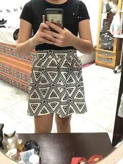 Tribal White Skirt