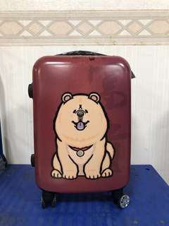 🚚 富邦 鬆獅犬 行李箱 登機箱 20吋