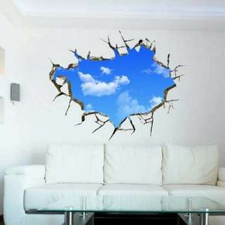 Langit Sky Wallsticker Wallpaper Sticker Dekorasi Awan