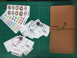 Traveler's Notebook Starter Kit (with Stickers)
