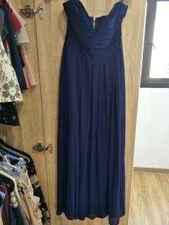 ASOS TFNC Navy Blue gown
