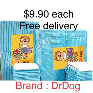 DrDog Pee Pads $9.90, Free Delivery