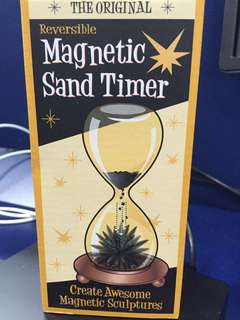 Very unique Magnetic sand timer as gift