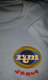 Vintage 1982 80s Malaysia RTM coloured tv broadcast T-shirt