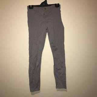 grey mid rise leggings