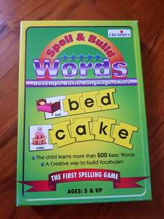 Educational Toy - spell and build words