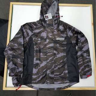 MAXFLY RAINCOAT CAMO WIND BREAKER 3M REFLECTIVE TEFLON COATING VENTILATION M L XL