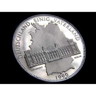 1990年德意志聯邦共和國(西德)成立40週年(1949-1989)國會大樓及國家版圖紀念章