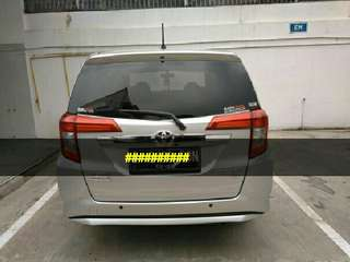 Mobil toyota calya 2017 silver type G manual