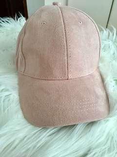 Light Pink Suede Cap