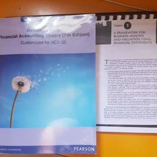 AC3103 Accounting Analysis and Equity Valuation (NTU Business Valuation)