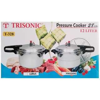Trisonic panci presto 12 liter T328 /pressure cooker /panci pelunak