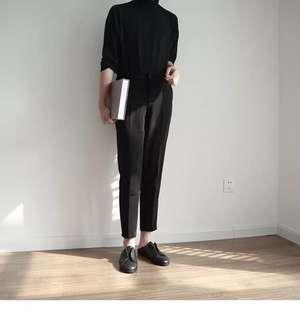 🚚 韓風簡約修身學院風西裝褲休閒褲Suit pants Casual pants