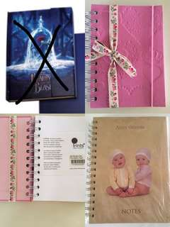 3 hard cover notebooks Prints,  Anne Geddes