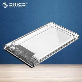 Orico 2139C3 2.5 Inch Transparent HDD Case Type C To Sata 3.0 Tool Free 5 Gbps Usb 3.1 Hard Drive Enclosure 2139c3