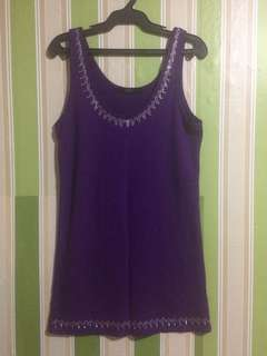 Purple sleeveless top