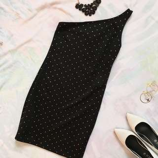 Atmosphere One-shoulder Bodycon Black Dress