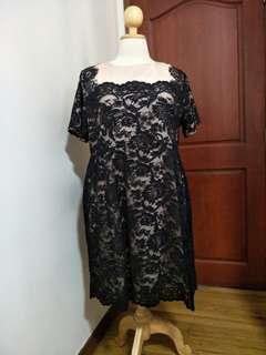 Plus Size Black Lacey Dress
