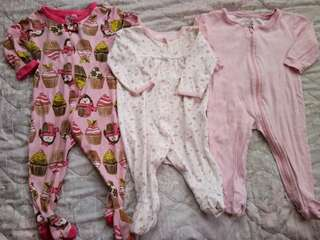 Bundle frogsuits for baby 3 to 9m