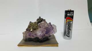 Good luck charm amethyst gem