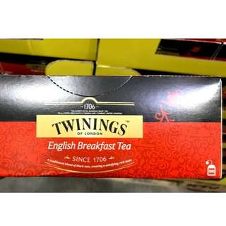 COSTCO 好市多 代購 唐寧茶 TWININGS BREAKFAST TEA 早餐茶 100入
