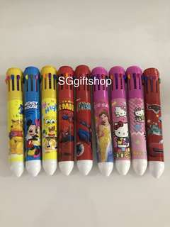 Cartoon 10 colors pen- children party goodies bag, birthday goodie favors, goody bag, school present