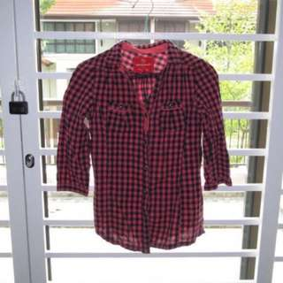 Red Checkered Fennel Shirt