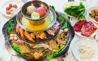 (Fri - Sun, PH, Eve of PH) 4-Tier Pagoda Hotpot and BBQ for 1 Person