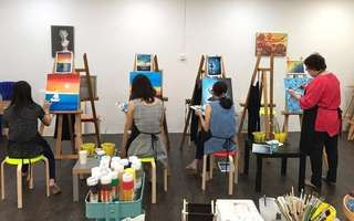 3-Hour Art Jamming Session with Free Flow Drinks and Snacks for 2 People