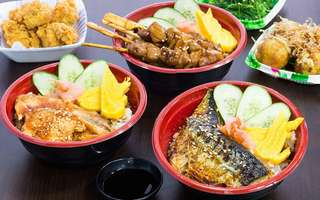 Japanese Don + Side Dish + Green Tea for 1 Person